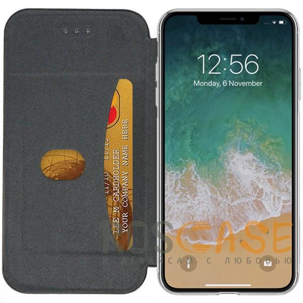 """Фотография Темно-синий  Open Color 2   Чехол-книжка на магните для Apple iPhone XR (6.1"""") с подставкой и внутренним карманом"""