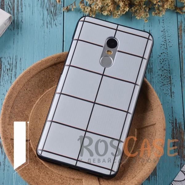 TPU чехол Sweet Art для Xiaomi Redmi Note 4 (Белая Клетка)<br><br>Тип: Чехол<br>Бренд: Epik<br>Материал: TPU
