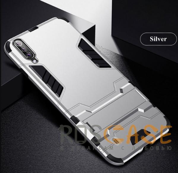 Изображение Серебряный / Satin Silver Transformer | Противоударный чехол для Samsung A705F Galaxy A70 с мощной защитой корпуса
