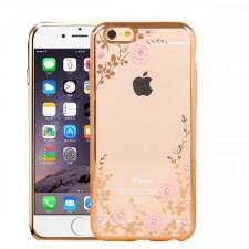 "Прозрачный чехол со стразами для Apple iPhone 6 plus (5.5"")  / 6s plus (5.5"") с глянцевым бампером"