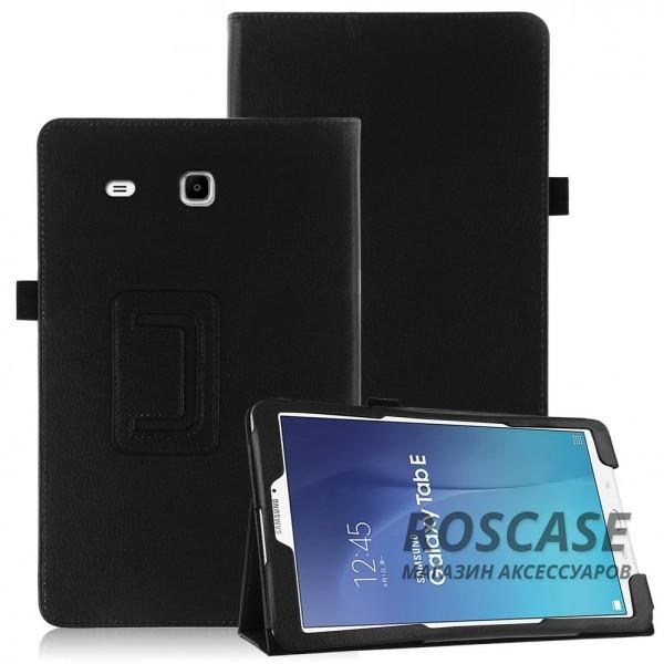 Кожаный чехол-книжка TTX с функцией подставки для Samsung Galaxy Tab E 9.6 (Черный)Описание:производитель  - &amp;nbsp;TTX;совместимость  -  Samsung Galaxy Tab E 9.6;материалы  - кожзам и микрофибра;форма  -  чехол-книжка.&amp;nbsp;Особенности:может превращаться в подставку;надежно удерживает планшет;защищает от царапин, потертостей, трещин;на нем не остаются отпечатки пальцев;вырезы для: динамиков, наушников, зарядного устройства, камеры, кнопок.<br><br>Тип: Чехол<br>Бренд: TTX<br>Материал: Искусственная кожа