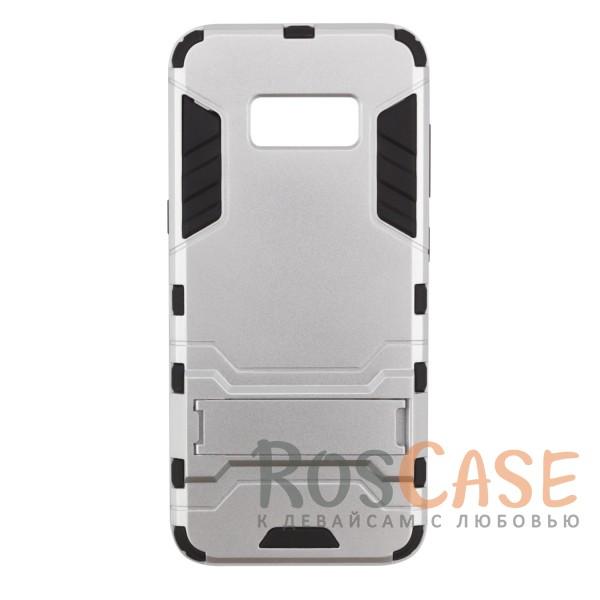 Ударопрочный чехол-подставка Transformer для Samsung G950 Galaxy S8 с мощной защитой корпуса (Серебряный / Satin Silver)Описание:чехол разработан для Samsung G950 Galaxy S8;материалы - термополиуретан, поликарбонат;тип - накладка;функция подставки;защита от ударов;прочная конструкция;не скользит в руках.<br><br>Тип: Чехол<br>Бренд: Epik<br>Материал: Пластик