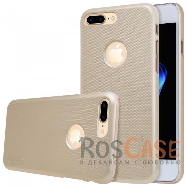 Чехол Nillkin Matte для Apple iPhone 7 plus (5.5) (+ пленка) (Золотой)Описание:бренд&amp;nbsp;Nillkin;спроектирована для&amp;nbsp;Apple iPhone 7 plus (5.5);материал - поликарбонат;тип - накладка.Особенности:фактурная поверхность;защита от ударов и царапин;тонкий дизайн;наличие функциональных вырезов;пленка на экран в комплекте.<br><br>Тип: Чехол<br>Бренд: Nillkin<br>Материал: Поликарбонат