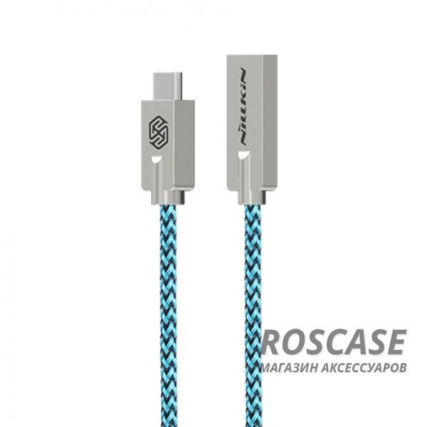Кабель Nillkin Chic USB to Type-C (1m) (Зеленый)Описание:бренд&amp;nbsp;Nillkin;материал - TPE (термоэластопласт);тип&amp;nbsp; - &amp;nbsp;дата кабель;совместимость: устройства с разъемом Type C.Особенности:гибкий и пластичный;плетеная оплетка;длина&amp;nbsp;кабеля - 100 см;сила тока - 2,1 A;разъемы -&amp;nbsp;Type C, USB 2.0;высокая скорость передачи данных;совмещает три в одном: синхронизация данных, передача данных, зарядка;устойчив к воздействию низких температур.<br><br>Тип: USB кабель/адаптер<br>Бренд: Nillkin