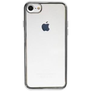 Силиконовый чехол для Apple iPhone 7 с глянцевой окантовкой
