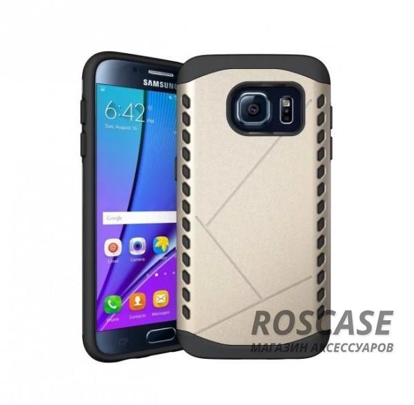 Противоударный защитный чехол Armor для Samsung Galaxy S7 Edge с усиленным прорезиненным бампером  (Золотой)Описание:разработан специально для Samsung G935F Galaxy S7 Edge;материалы: термополиуретан, поликарбонат;формат: накладка.Особенности:защита от ударов;двойной корпус;не скользит в руках;усиленный бампер;присутствуют все необходимые вырезы.<br><br>Тип: Чехол<br>Бренд: Epik<br>Материал: TPU