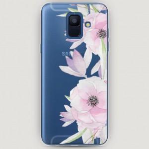 RosCase | Силиконовый чехол Нежные анемоны на Samsung Galaxy A6 (2018)