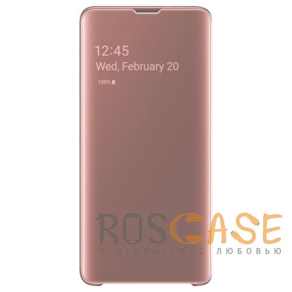 Фото Розовый / Rose Gold Чехол-книжка Clear View Standing Cover для Samsung Galaxy A80 / A90