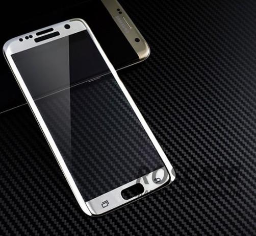 Противоударное закаленное стекло 0.2mm с защитой на весь экран Samsung G935F Galaxy S7 Edge (2.5D) (Белый)Описание:идеально подходит для Samsung G935F Galaxy S7 Edge;материал: закаленное стекло;тип: стекло на экран.&amp;nbsp;Особенности:закругленные грани 2.5D;ультратонкое  -  0,2 мм;прочность  -  9H;закрывает весь экран, в том числе боковые закругления;ударопрочное;олеофобное покрытие;цветная окантовка;защищает от царапин.<br><br>Тип: Защитное стекло<br>Бренд: Epik