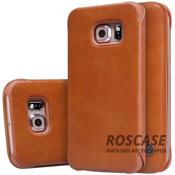 Чехол-книжка из натуральной кожи для Samsung G925F Galaxy S6 Edge (Коричневый)Описание:производитель:&amp;nbsp;Nillkin;совместим с Samsung G925F Galaxy S6 Edge;материал: натуральная кожа;тип: чехол-книжка.&amp;nbsp;Особенности:слот для визиток;ультратонкий;фактурная поверхность;внутренняя отделка микрофиброй.<br><br>Тип: Чехол<br>Бренд: Nillkin<br>Материал: Натуральная кожа