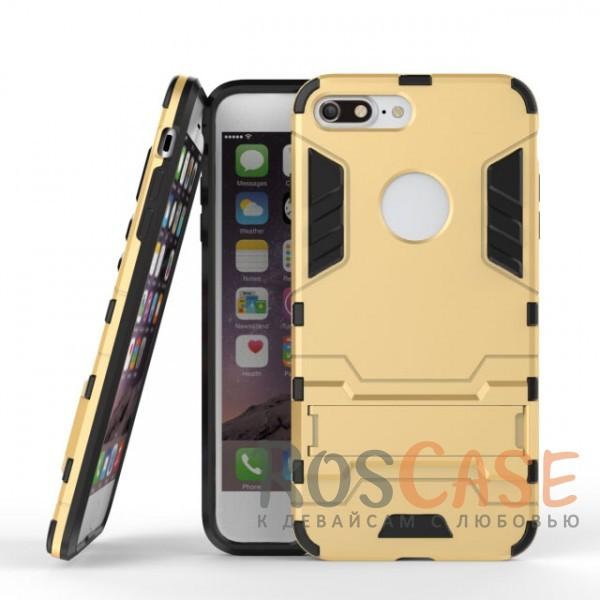 Ударопрочный чехол-подставка Transformer для Apple iPhone 7 plus / 8 plus (5.5) с мощной защитой корпуса (Золотой / Champagne Gold)Описание:подходит для Apple iPhone 7 plus / 8 plus (5.5);материалы: термополиуретан, поликарбонат;формат: накладка.&amp;nbsp;Особенности:функциональные вырезы;функция подставки;двойная степень защиты;защита от механических повреждений;не скользит в руках.<br><br>Тип: Чехол<br>Бренд: Epik<br>Материал: TPU