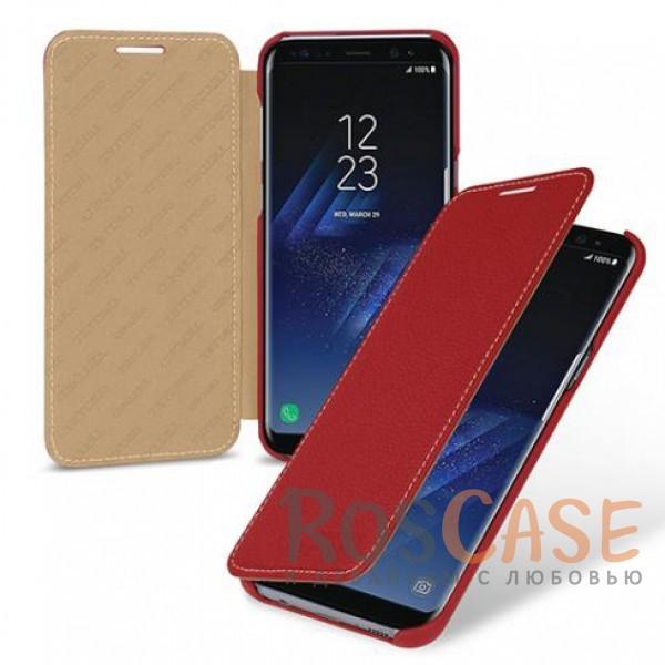 Прошитый чехол-книжка из натуральной кожи TETDED для Samsung G955 Galaxy S8 Plus (Красный / Red)Описание:бренд  - &amp;nbsp;Tetded;разработан для Samsung G955 Galaxy S8 Plus;материал  -  натуральная кожа;тип  -  чехол-книжка.в наличии все функциональные вырезы;легко устанавливается;строчка по периметру;защита от механических повреждений;на чехле не заметны следы от пальцев.<br><br>Тип: Чехол<br>Бренд: TETDED<br>Материал: Натуральная кожа