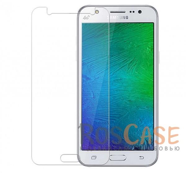 Фото Прозрачное защитное стекло с закругленными краями и олеофобным покрытием для Samsung J510F Galaxy J5 (2016)