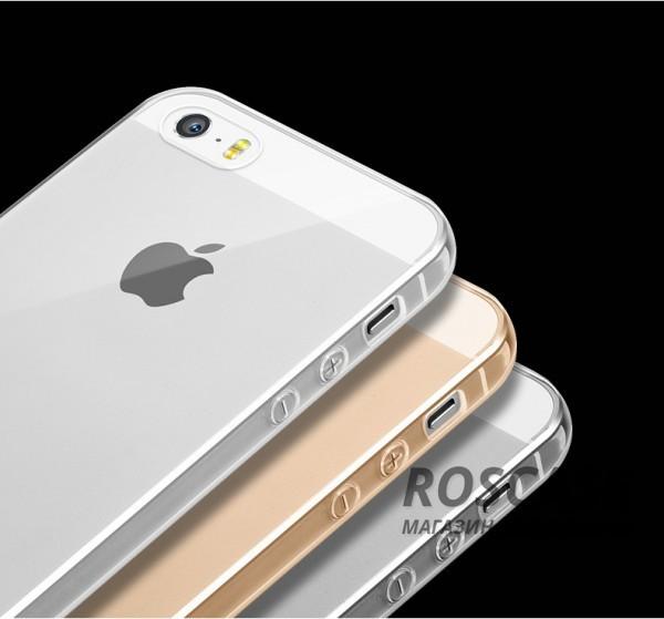 Тонкий прозрачный силиконовый чехол Msvii для Apple iPhone 5/5S/SE с заглушкойОписание:совместимость: Apple iPhone 5/5S/SE;форм-фактор: накладка;материал: силикон.Преимущества:не деформируется;надежная фиксация;легко очищается;износостойкий;присутствуют все функциональные вырезы;наличие заглушки;элегантный дизайн.<br><br>Тип: Чехол<br>Бренд: Epik<br>Материал: TPU
