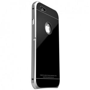 """LUPHIE   Металлический бампер для Apple iPhone 6/6s 4.7"""" с глянцевой панелью и подставкой"""