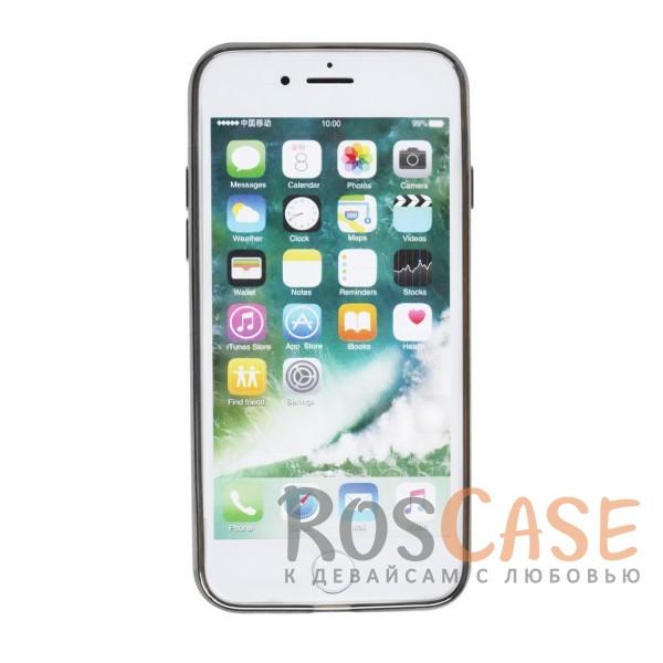 """Фотография Серый Силиконовый чехол для Apple iPhone 7 / 8 (4.7"""") с глянцевой окантовкой"""