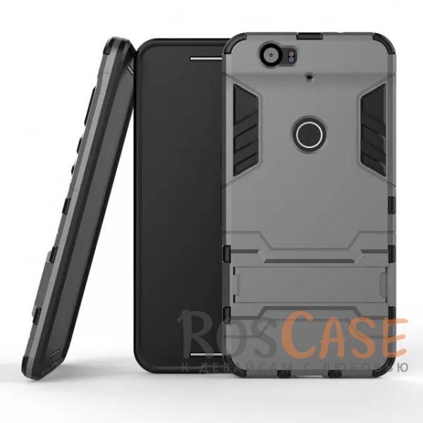 Ударопрочный чехол-подставка Transformer для Huawei Nexus 6P с мощной защитой корпуса (Металл / Gun Metal)Описание:совместим со смартфоном Huawei Nexus 6P;форм-фактор  -  накладка;материал для изготовления  -  термополиуретан/поликарбонат.Особенности:простая и надежная фиксация смартфона;имеет необходимые вырезы под функции гаджета;есть функция подставки;защита от скольжения и ударов;защита от отпечатков;не деформируется;морозостойкий.<br><br>Тип: Чехол<br>Бренд: Epik<br>Материал: TPU