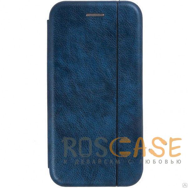 Фото Темно-синий Open Color 2   Чехол-книжка на магните для Xiaomi Redmi Note 8 с подставкой и внутренним карманом
