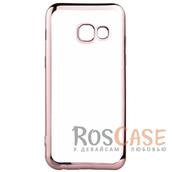 Прозрачный силиконовый чехол для Samsung A520 Galaxy A5 (2017) с глянцевой окантовкой (Розовый)Описание:совместим с Samsung A520 Galaxy A5 (2017);глянцевая окантовка;материал - TPU;тип - накладка.<br><br>Тип: Чехол<br>Бренд: Epik<br>Материал: TPU