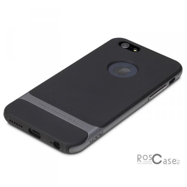TPU+PC чехол Rock Royce Series для Apple iPhone 6/6s plus (5.5) (Черный / Серый)Описание:производитель  -  компания Rock;разработан для Apple iPhone 6/6s plus (5.5);материалы  -  полиуретан, поликарбонат;тип  -  накладка.&amp;nbsp;Особенности:тонкий и легкий;окантовка из поликарбоната;в наличии все функциональные вырезы;легкая очистка;хорошее сцепление с поверхностями;защищает от механических повреждений;легкая установка и удаление.<br><br>Тип: Чехол<br>Бренд: ROCK<br>Материал: TPU