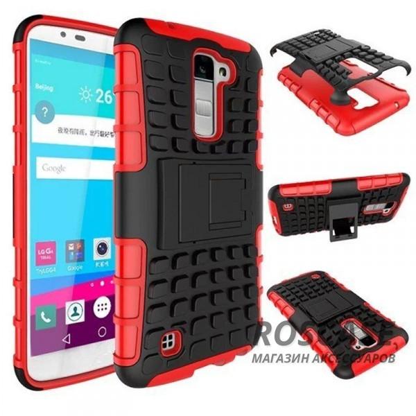 Противоударный двухслойный чехол Shield для LG K10 K410/K430DS с подставкой (Красный)Описание:разработан специально для LG K10 K410/K430DS;материалы: поликарбонат, термополиуретан;тип: накладка.&amp;nbsp;Особенности:двухслойный;ударопрочный;оригинальный дизайн;стильный дизайн;в наличии все функциональные вырезы;функция подставки.<br><br>Тип: Чехол<br>Бренд: Epik<br>Материал: TPU