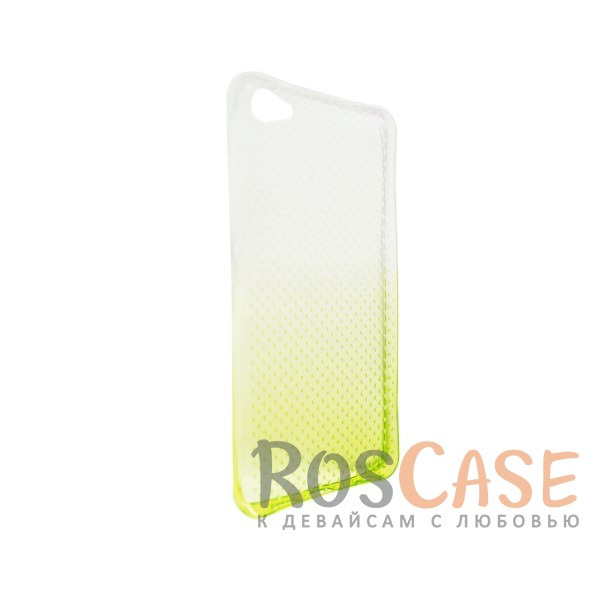 Изображение Желтый Гибкий чехол для Meizu U20 из прозрачного силикона с градиентным цветным напылением