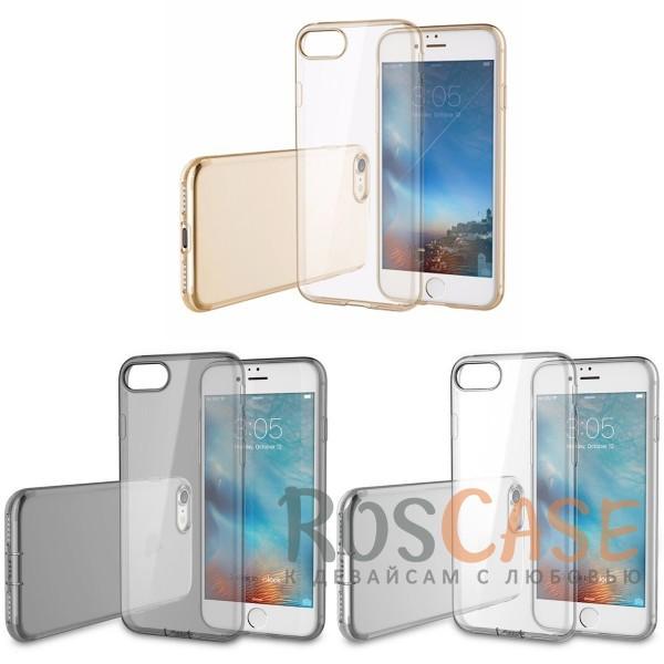 TPU чехол ROCK Slim Jacket для Apple iPhone 7 plus (5.5)Описание:производитель  -  Rock;совместим с Apple iPhone 7 plus (5.5);материал  -  термополиуретан;тип  -  накладка.&amp;nbsp;Особенности:ультратонкая;прозрачная;не скользит;разъемы учитывают все функции;легко устанавливается;легко очищается;защищает от царапин и ударов.<br><br>Тип: Чехол<br>Бренд: ROCK<br>Материал: TPU