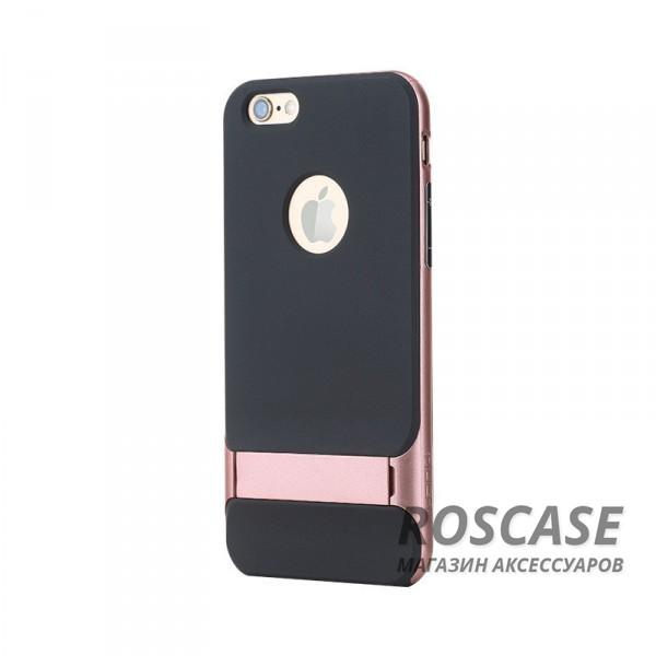 TPU+PC чехол Rock Royce Series с функцией подставки для Apple iPhone 6/6s (4.7) (Розовый / Rose Gold)Описание:изготовитель: компания Rock;совместимость: смартфоны Apple iPhone 6/6s;произведен из термопластичного полиуретана и качественного поликарбоната;тип крепления: накладка;поверхность: частично матовая, частично глянцевая.Особенности:защищает от повреждений при падениях;имеет двойную конструкцию;имеет функцию подставки;позиционируется как аксессуар с интересным нетривиальным дизайном.<br><br>Тип: Чехол<br>Бренд: ROCK<br>Материал: TPU