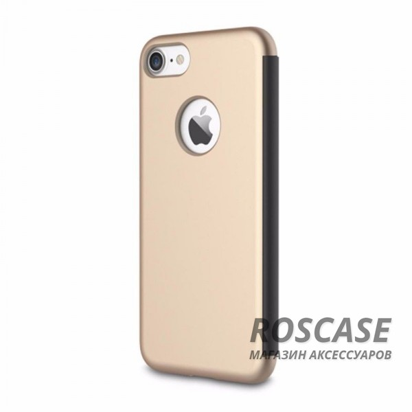 фото Золотой / Gold Чехол (книжка) Rock DR.V Series для Apple iPhone 7 plus (5.5