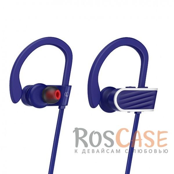 Фото Фиолетовый HOCO ES7 | Беспроводные наушники с микрофоном и специальным креплением