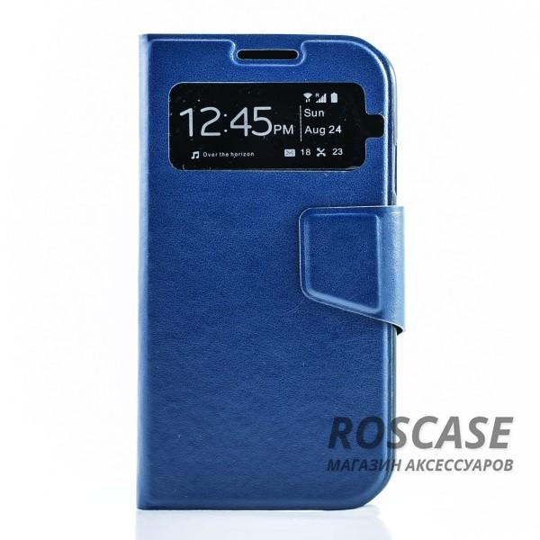 Чехол (книжка) с TPU креплением для Samsung i9500 Galaxy S4 (Синий)Описание:производитель - бренд&amp;nbsp;Epik;разработан для Samsung i9500 Galaxy S4;материал: искусственная кожа;тип: чехол-книжка.&amp;nbsp;Особенности:имеются функциональные вырезы;магнитная застежка;защита от ударов и падений;окошко в обложке;не скользит в руках.<br><br>Тип: Чехол<br>Бренд: Epik<br>Материал: Искусственная кожа
