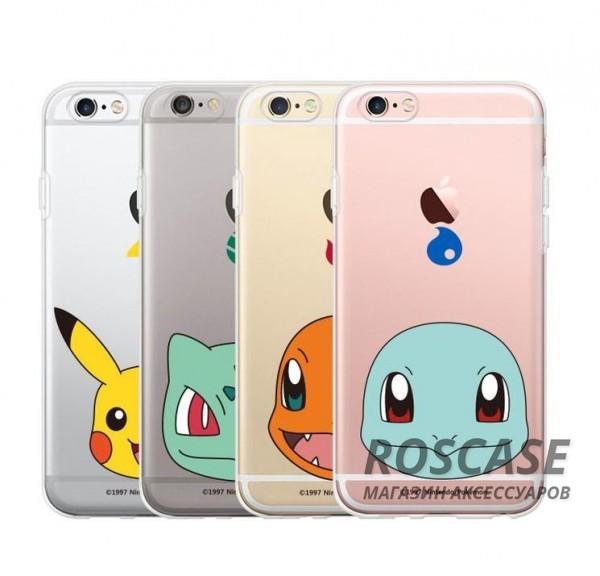 """Фото Прозрачный силиконовый чехол """"Pokemon Go"""" для Apple iPhone 5/5S/SE"""