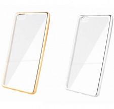 Силиконовый чехол для Huawei P8 Lite с глянцевой окантовкой