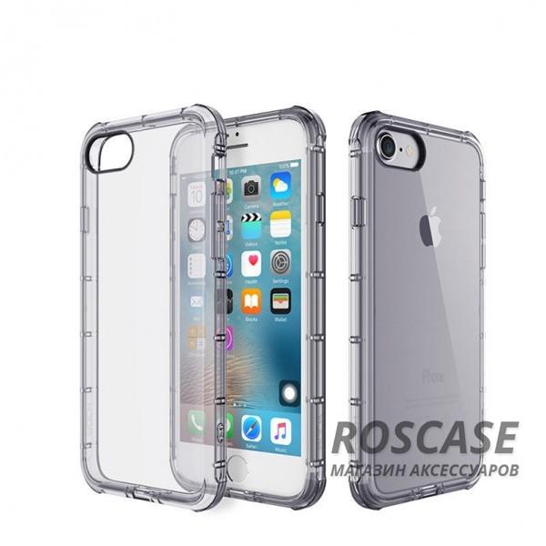 TPU чехол ROCK Fence series для Apple iPhone 7 plus (5.5) (Черный / Transparent black)Описание:производитель  -  Rock;полностью совместим с Apple iPhone 7 plus (5.5);изготовлен из термопластичного полиуретана;имеет форму накладки.Особенности:износостойкий чехол, пыленепроницаемый;гибкий и эластичный, легко снимается и одевается;не склонен к деформированию и выцветанию;точно копирует форму устройства.<br><br>Тип: Чехол<br>Бренд: ROCK<br>Материал: TPU