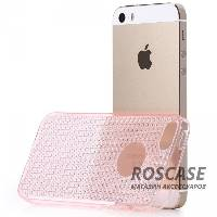 фото Розовый / Transparent pink TPU чехол Rock Fla Series для Apple iPhone 5/5S/SE