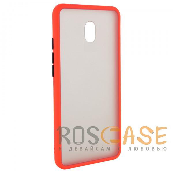 Фото Красный Противоударный матовый полупрозрачный чехол для Xiaomi Redmi 8A