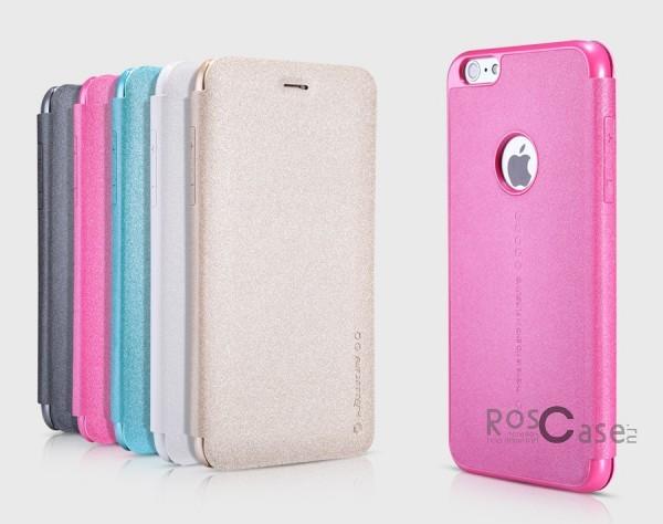 Кожаный чехол (книжка) для Apple iPhone 6 plus (5.5)  / 6s plus (5.5)Описание:разработчик и производитель&amp;nbsp;Nillkin;изготовлен из синтетической кожи и поликарбоната;фактурная поверхность;тип конструкции: чехол-книжка;совместим с Apple iPhone 6 plus (5.5) / 6s plus (5.5).&amp;nbsp;Особенности:внутренняя отделка из микрофибры;ультратонкий;не скользит в руках;яркая, насыщенная палитра цветов.<br><br>Тип: Чехол<br>Бренд: Nillkin<br>Материал: Искусственная кожа