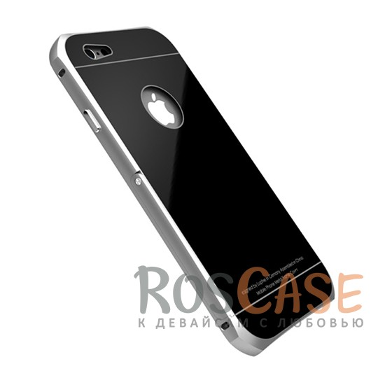 Металлический бампер с подставкой Luphie с акриловой вставкой для Apple iPhone 6/6s 4.7 (Серебряный / Черный)Описание:бренд -&amp;nbsp;Luphie;материал - алюминий, акрил;совместим с Apple iPhone 6/6s 4.7;тип - бампер со вставкой.Особенности:акриловая вставка;прочный алюминиевый бампер;в наличии все вырезы;ультратонкий дизайн;функция подставки;ударопрочный и огнеупорный.<br><br>Тип: Чехол<br>Бренд: Luphie<br>Материал: Металл