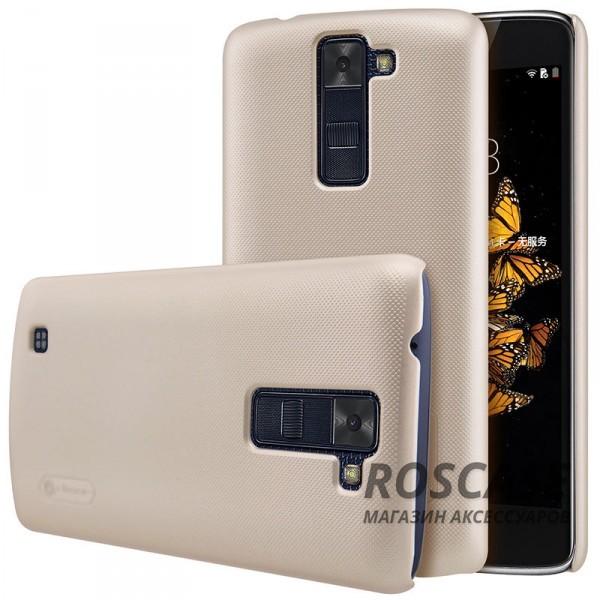 Матовый чехол для LG K8 K350E (+ пленка)Описание:бренд:&amp;nbsp;Nillkin;подходит идеально для LG K8 K350E;материал: поликарбонат;тип: накладка.Особенности:не скользит в руках благодаря рельефной поверхности;защищает от повреждений;прочный и долговечный;легко устанавливается и снимается;пленка для защиты экрана в комплекте.<br><br>Тип: Чехол<br>Бренд: Nillkin<br>Материал: Пластик