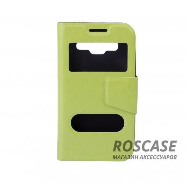 Чехол (книжка) с TPU креплением для Samsung G360H/G361H Galaxy Core Prime Duos (Зеленый)Описание:компания-изготовитель: Epik;полная совместимость с устройством модели: Samsung G360H/G361H Galaxy Core Prime Duos;материал для изготовления: синтетическая кожа и термополиуретан;конфигурация: обложка в виде книжки.Особенности:всесторонняя защита смартфона;высокий класс износоустойчивости;возможность принимать звонки с закрытой обложкой;имеет 2 окошка.<br><br>Тип: Чехол<br>Бренд: Epik<br>Материал: Искусственная кожа