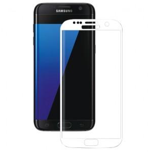 Защитное 3D стекло с цветной рамкой на весь экран  для Samsung Galaxy S7 Edge (G935F)