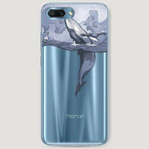 RosCase | Силиконовый чехол Два измерения на Huawei Honor 10