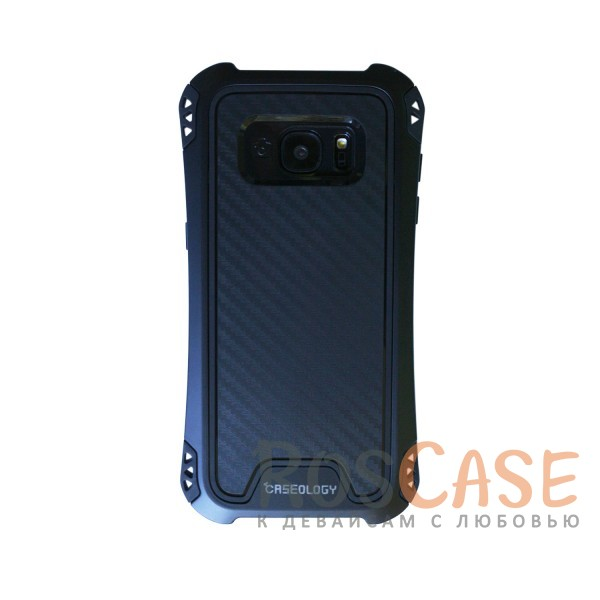 Противоударный чехол бампер KMC для Samsung G935F Galaxy S7 Edge (Черный / Черный)<br><br>Тип: Чехол<br>Бренд: Epik<br>Материал: TPU