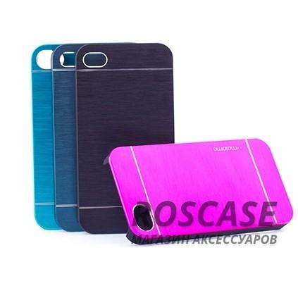 Накладка MOTOMO с алюминиевой вставкой для Apple iPhone 4/4SОписание:компания-производитель: MOTOMO;совместим с Apple iPhone 4/4S;используемые материалы: поликарбонат, алюминий;форма: накладка.&amp;nbsp;Особенности:ультратонкое исполнение;полный набор функциональных вырезов;высокий уровень защиты;алюминиевая декоративная вставка;плотное прилегание;надежная фиксация.<br><br>Тип: Чехол<br>Бренд: Epik<br>Материал: Металл