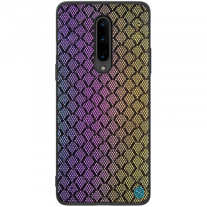 Nillkin Twinkle Rainbow | Чехол с текстурной тканевой вставкой  для OnePlus 8