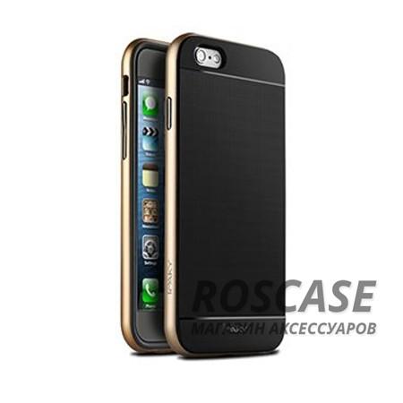 Чехол iPaky TPU+PC для Apple iPhone 6/6s (4.7) (Черный / Золотой)Описание:производитель: iPaky;совместимость: смартфон Apple iPhone 6/6s (4.7);материалы изделия: термополиуретан и поликарбонат;форм-фактор: накладка.Особенности:строгий и стильный дизайн;имеет каркас из поликарбоната;износостойкий и прочный;ультратонкий;легко чистится.<br><br>Тип: Чехол<br>Бренд: Epik<br>Материал: TPU