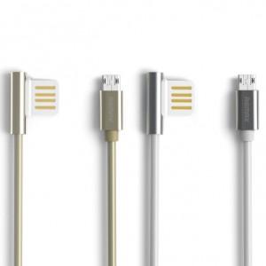 Remax Emperor | Дата кабель USB to MicroUSB с угловым штекером USB (100 см)