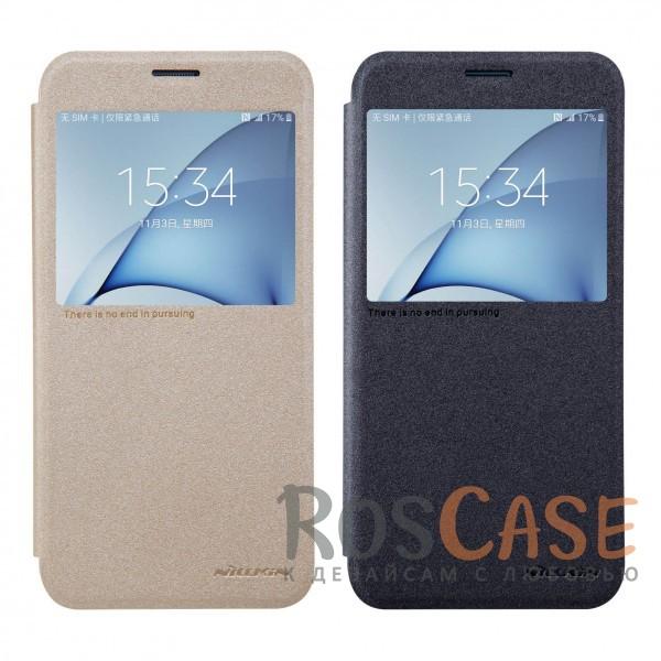 Кожаный чехол (книжка) Nillkin Sparkle Series для Samsung A810 Galaxy A8 (2016)Описание:от компании&amp;nbsp;Nillkin;совместим с Samsung A810 Galaxy A8 (2016);материалы: поликарбонат, искусственная кожа;тип: чехол-книжка.<br><br>Тип: Чехол<br>Бренд: Nillkin<br>Материал: Искусственная кожа