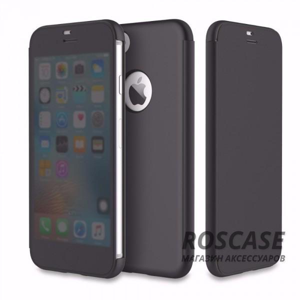 Чехол (книжка) Rock DR.V Series для Apple iPhone 7 (4.7) (Черный / Black)Описание:производитель  -  компания Rock;разработан для Apple iPhone 7 (4.7);материалы  -  поликарбонат, полиуретан;форма  -  чехол-книжка.&amp;nbsp;Особенности:функция Smart window;декоративная фактура;имеются все функциональные разъемы;на нем не видны отпечатки пальцев;защита от ударов и царапин.<br><br>Тип: Чехол<br>Бренд: ROCK<br>Материал: Пластик