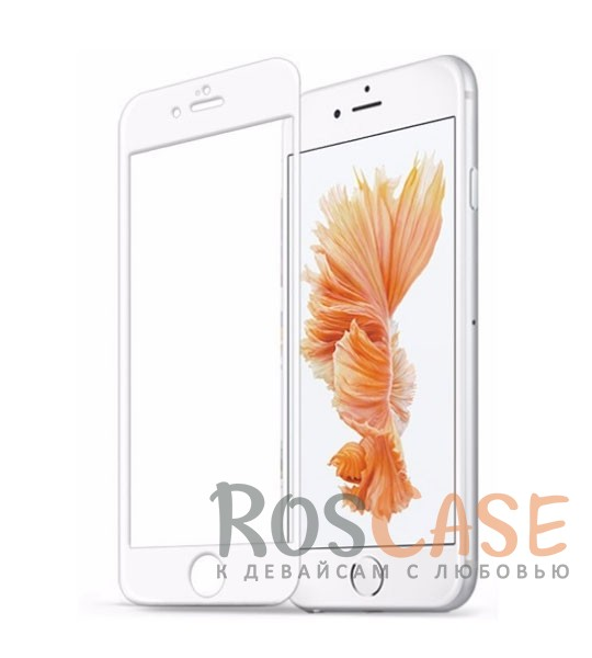 Защитное 3D стекло Vmax (CP+) на весь экран с TPU краями для Apple iPhone 7 (4.7) (Белый)<br><br>Тип: Защитное стекло<br>Бренд: Vmax